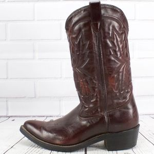 Double H HH Red Leather Western Work Boots 10.5